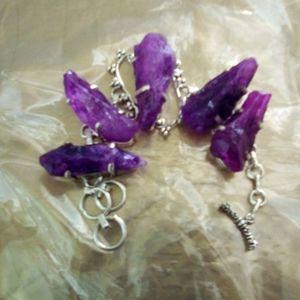 Purple Rock Statement Bracelet